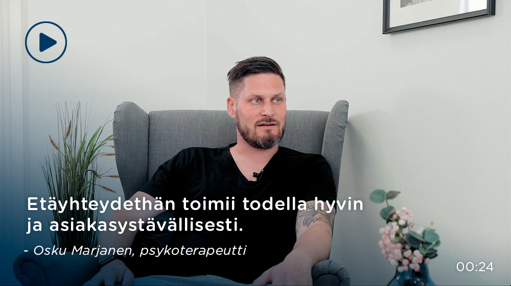 Osku Marjanen, psykoterapeutti