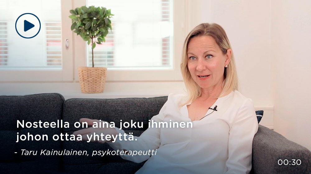 Taru Kainulainen, psykoterapeutti